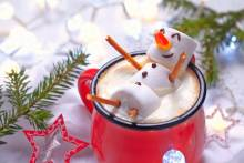 hot chocolate with snowman